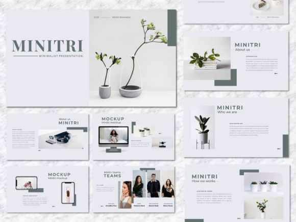 Minitri - Creative Business PowerPoint Graphic Presentation Templates By Yumnacreative