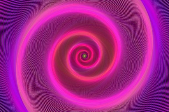 Pink Neon Light Spiral Background Graphic Backgrounds By davidzydd