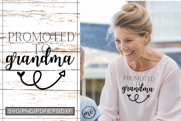 Print on Demand: Promoted Grandma Cut File for Cricut Graphic Crafts By Mockup Venue