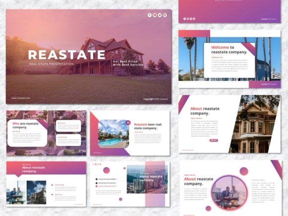 Reastate - Real Estate PowerPoint Graphic Presentation Templates By Yumnacreative - Image 1