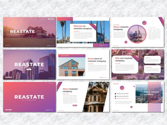 Reastate - Real Estate PowerPoint Graphic Presentation Templates By Yumnacreative - Image 2