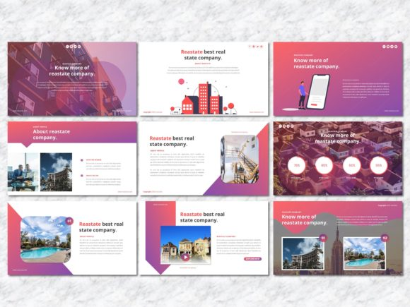 Reastate - Real Estate PowerPoint Graphic Presentation Templates By Yumnacreative - Image 3