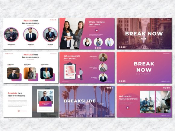 Reastate - Real Estate PowerPoint Graphic Presentation Templates By Yumnacreative - Image 5