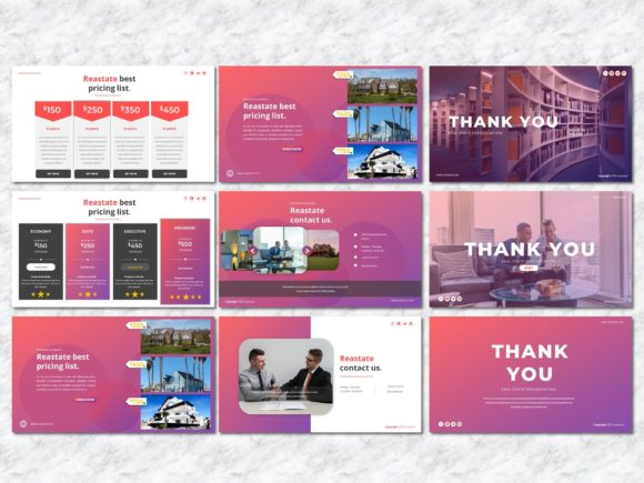 Reastate - Real Estate PowerPoint Graphic Presentation Templates By Yumnacreative - Image 9