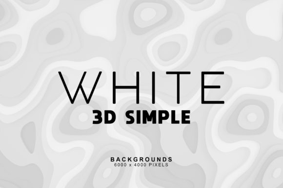 Print on Demand: Simple 3D White Backgrounds 1 Graphic Backgrounds By ArtistMef