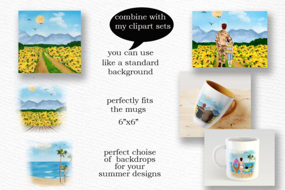 Summer Backdrop Beach Landscape Graphic Illustrations By LeCoqDesign - Image 3
