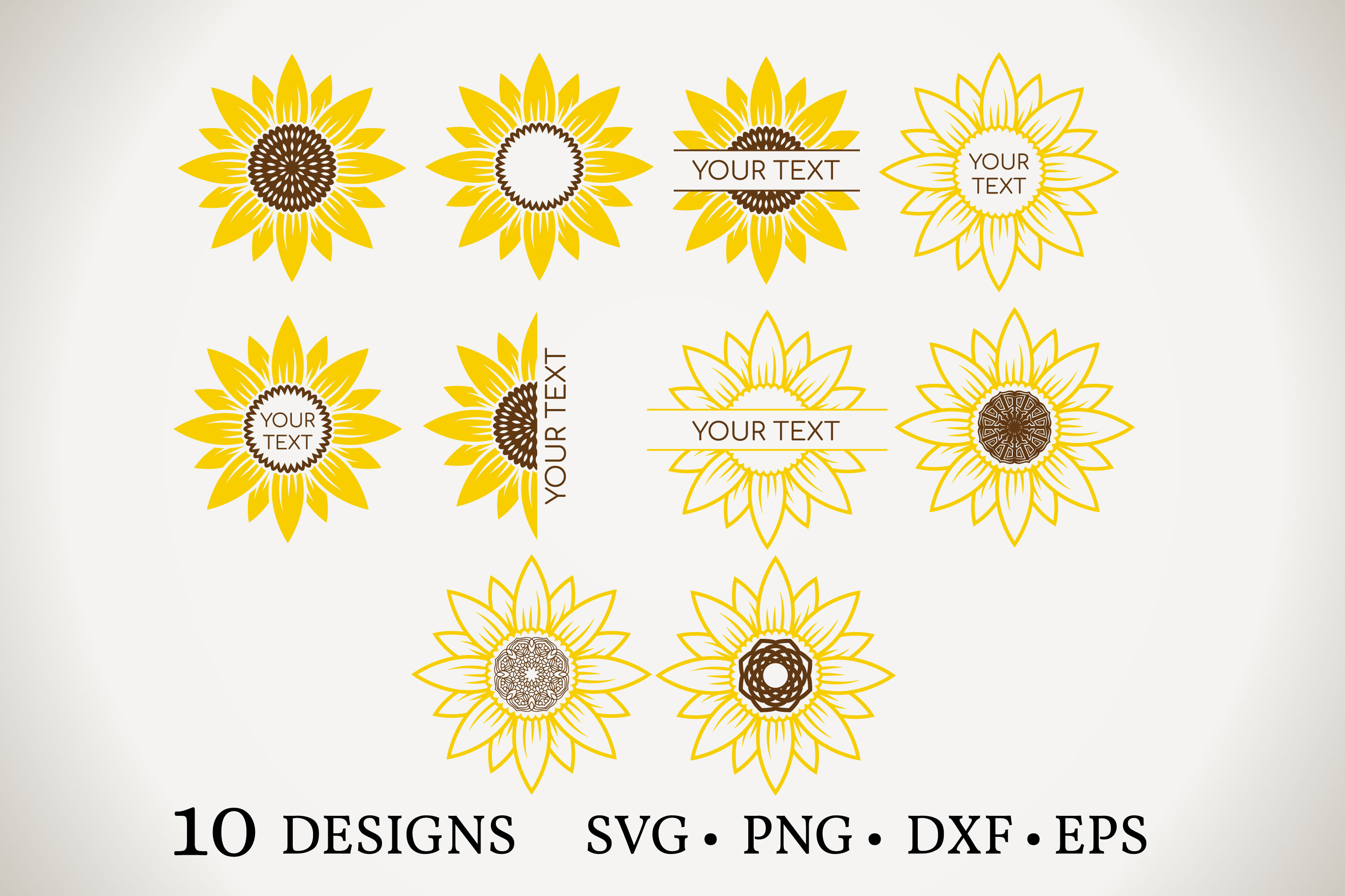 Download Free Sunflower Graphic By Euphoria Design Creative Fabrica for Cricut Explore, Silhouette and other cutting machines.
