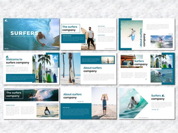 Surfers - Creative Business PowerPoint Graphic Presentation Templates By Yumnacreative - Image 2