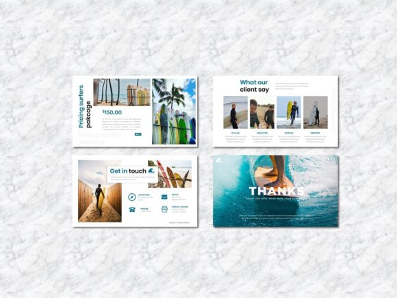 Surfers - Creative Business PowerPoint Graphic Presentation Templates By Yumnacreative - Image 6
