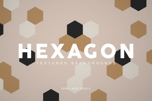 Print on Demand: Textured Hexagon Backgrounds Graphic Backgrounds By ArtistMef