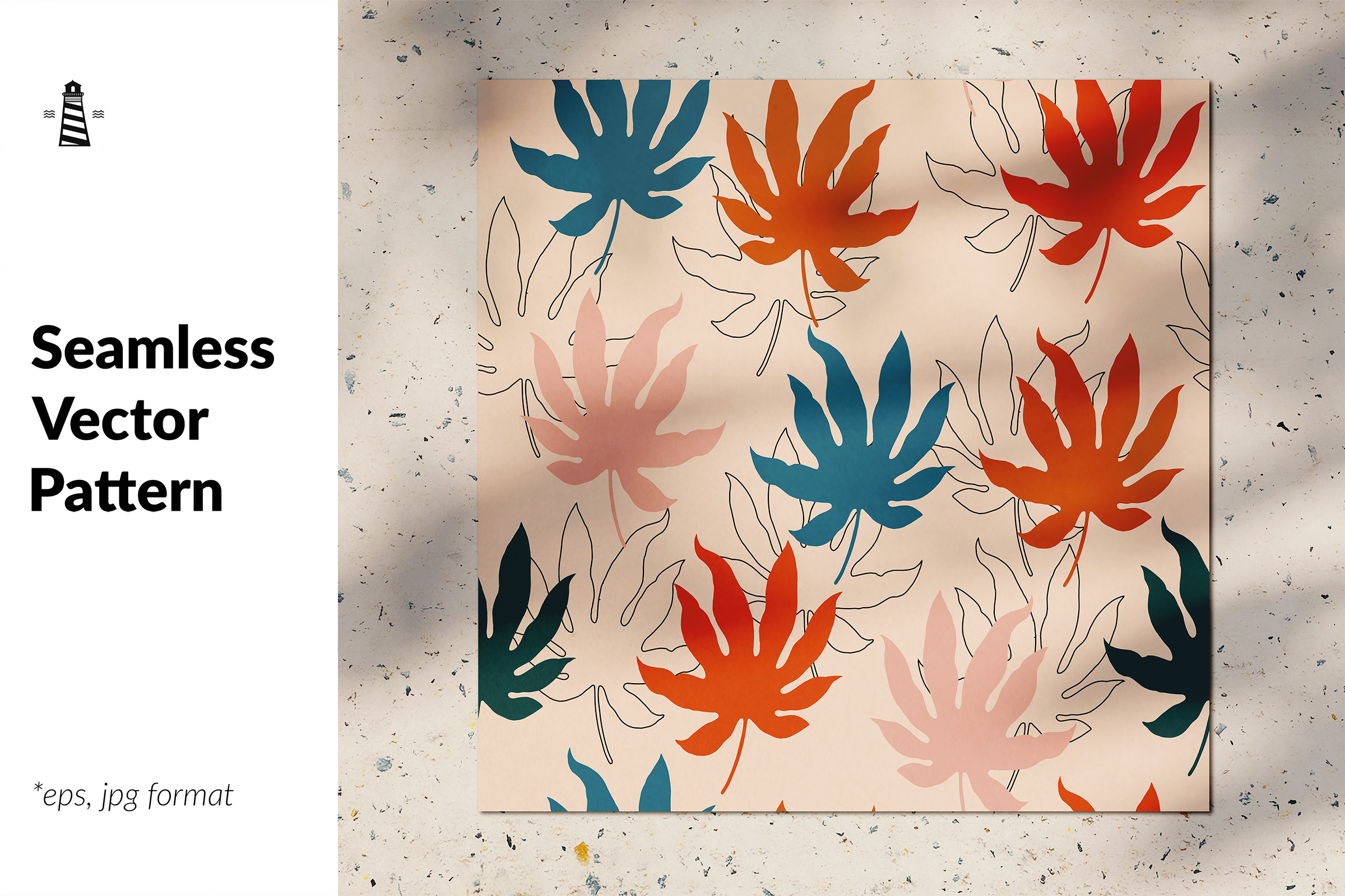 Download Free Tropical Leaves Seamless Background Graphic By Northseastudio for Cricut Explore, Silhouette and other cutting machines.