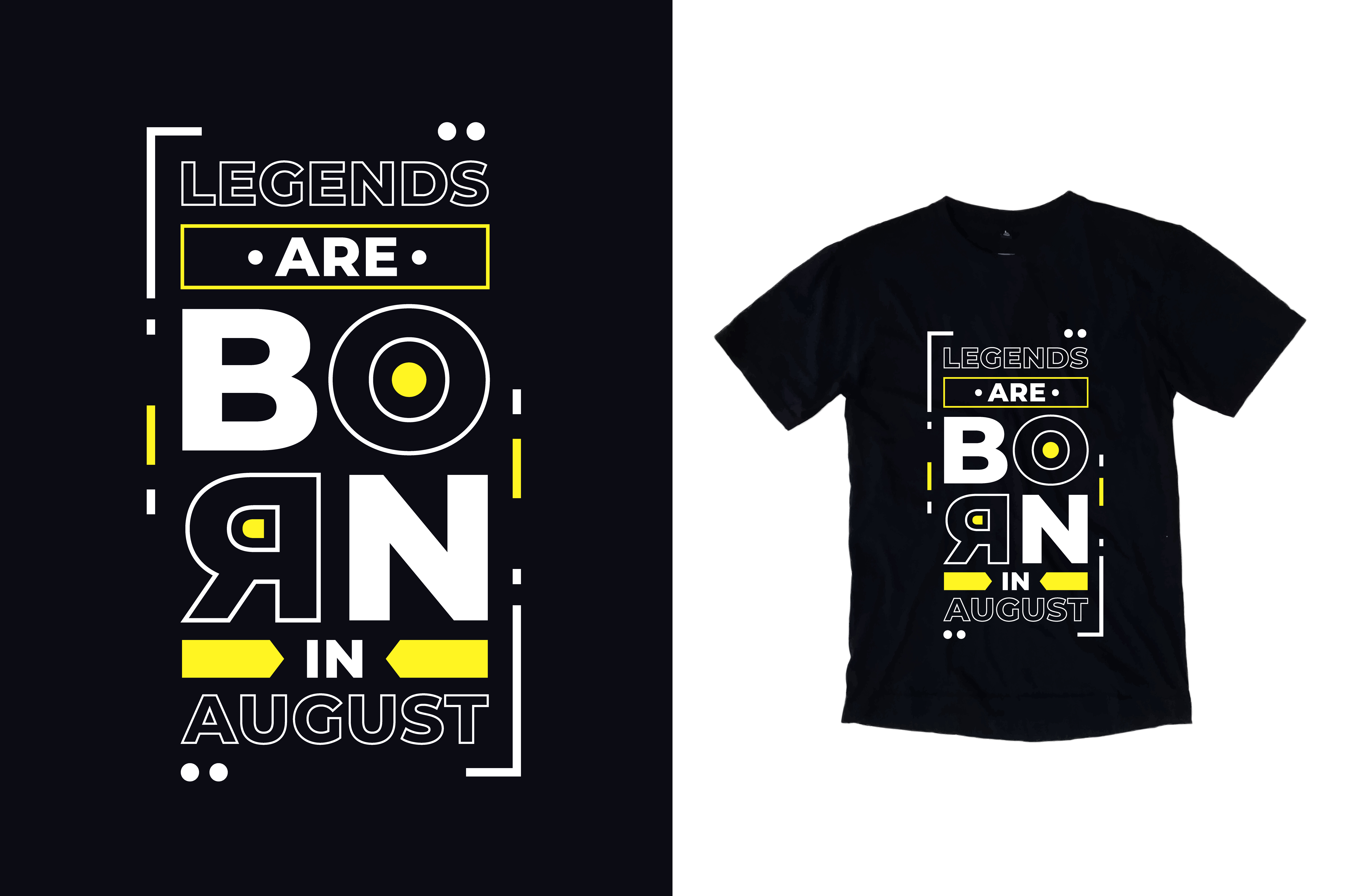 Download Free T Shirt Legends Born In August Quotes Graphic By Yazriltri for Cricut Explore, Silhouette and other cutting machines.
