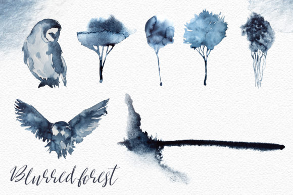 watercolor blurred forest clipart graphic by artcreationsdesign creative fabrica watercolor blurred forest clipart