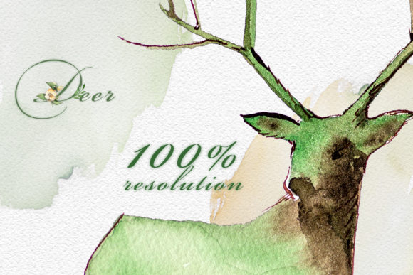 Watercolor Deer Clipart Set Graphic Illustrations By artcreationsdesign - Image 7