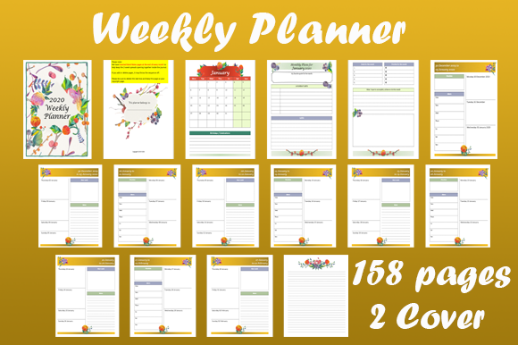 Print on Demand: Weekly Planner Graphic KDP Interiors By mo23304