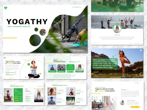 Yogathy - Yoga PowerPoint Template Graphic Presentation Templates By Yumnacreative - Image 1