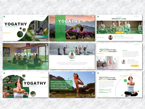 Yogathy - Yoga PowerPoint Template Graphic Presentation Templates By Yumnacreative - Image 2