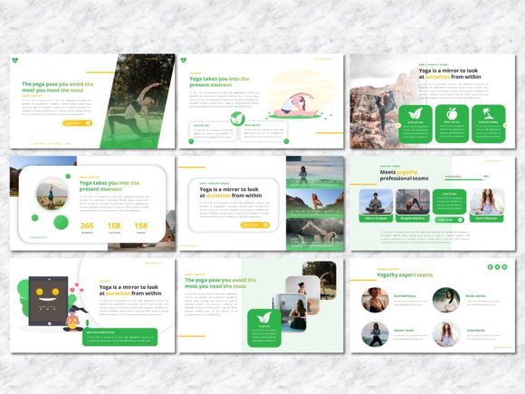 Yogathy - Yoga PowerPoint Template Graphic Presentation Templates By Yumnacreative - Image 3