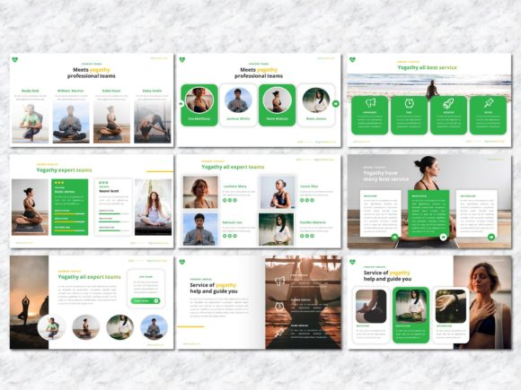 Yogathy - Yoga PowerPoint Template Graphic Presentation Templates By Yumnacreative - Image 4