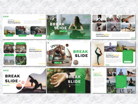 Yogathy - Yoga PowerPoint Template Graphic Presentation Templates By Yumnacreative - Image 5