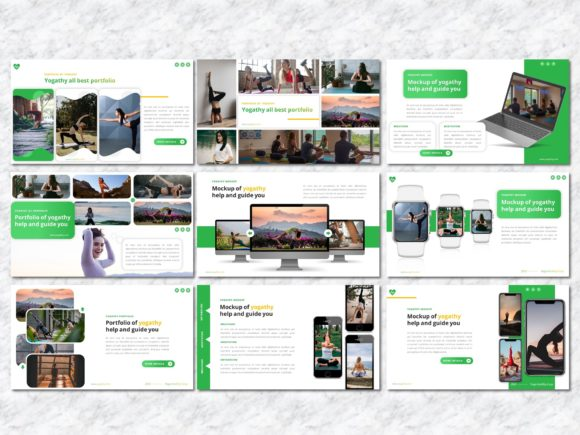 Yogathy - Yoga PowerPoint Template Graphic Presentation Templates By Yumnacreative - Image 6