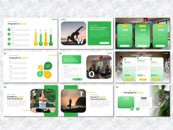 Yogathy - Yoga PowerPoint Template Graphic Presentation Templates By Yumnacreative - Image 7