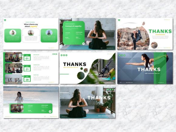 Yogathy - Yoga PowerPoint Template Graphic Presentation Templates By Yumnacreative - Image 8