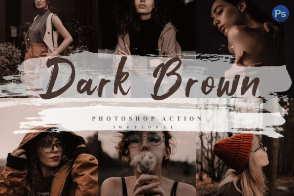 Download Free 5 Dark Brown Photoshop Actions Acr Lut Graphic By 3motional for Cricut Explore, Silhouette and other cutting machines.