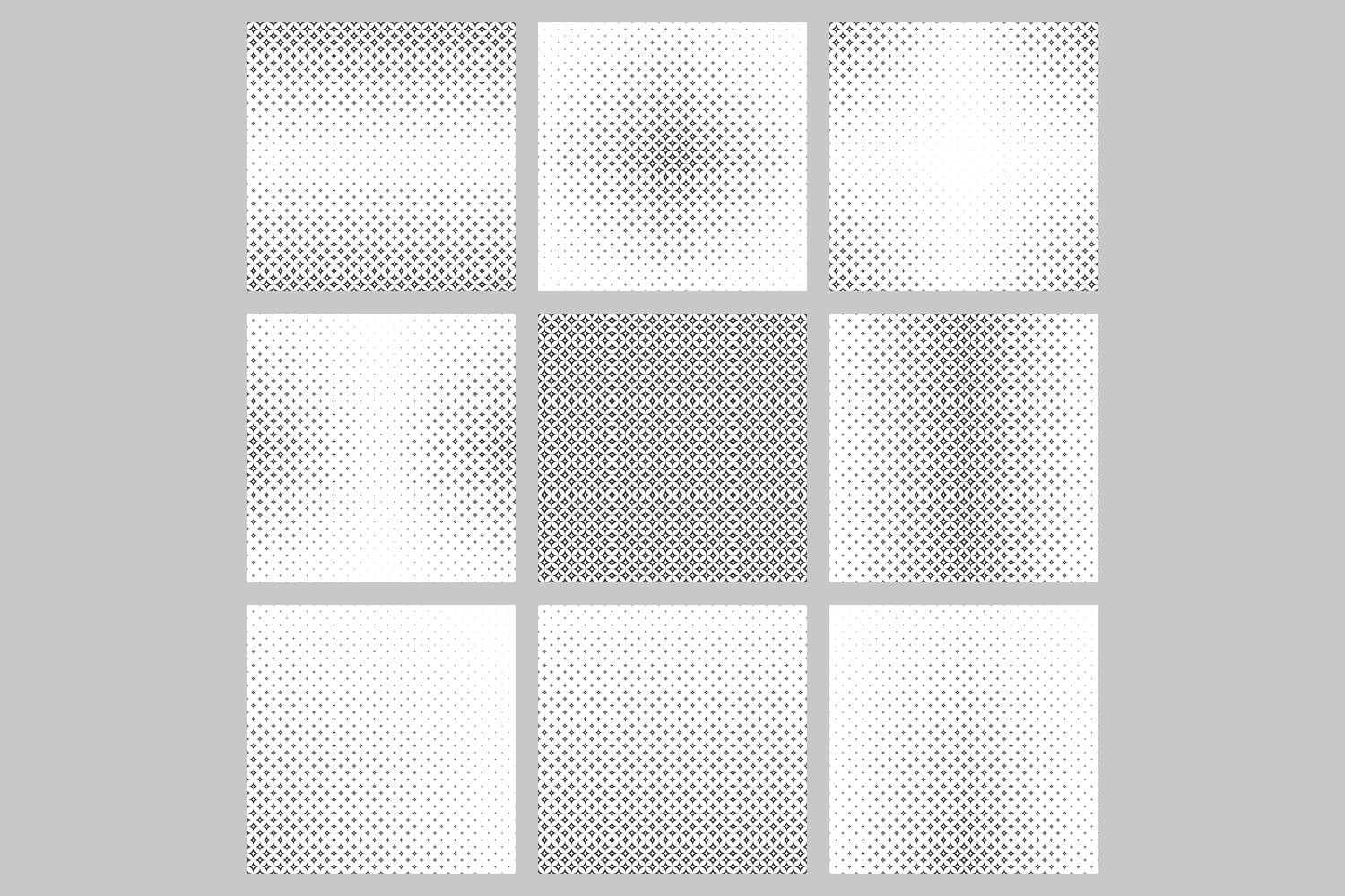 Download Free 9 Monochrome Curved Star Patterns Graphic By Davidzydd for Cricut Explore, Silhouette and other cutting machines.