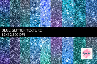 Blue Glitter Texture Digital Background Graphic Textures By sugamiart