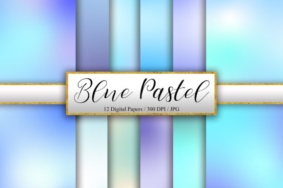 Download Free Blue Pastel Background Digital Papers Graphic By Pinkpearly for Cricut Explore, Silhouette and other cutting machines.