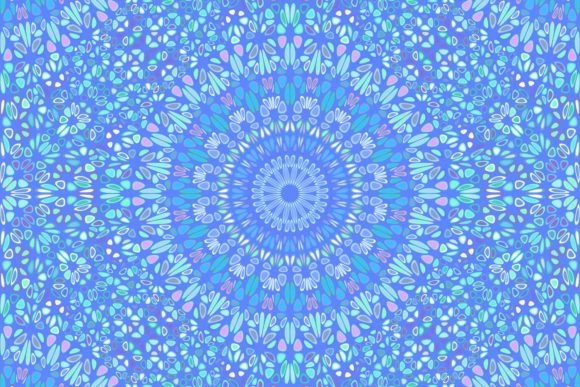 Download Free Blue Seamless Floral Mandala Pattern Graphic By Davidzydd for Cricut Explore, Silhouette and other cutting machines.