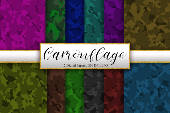 Camouflage Background Digital Papers Graphic Backgrounds By PinkPearly