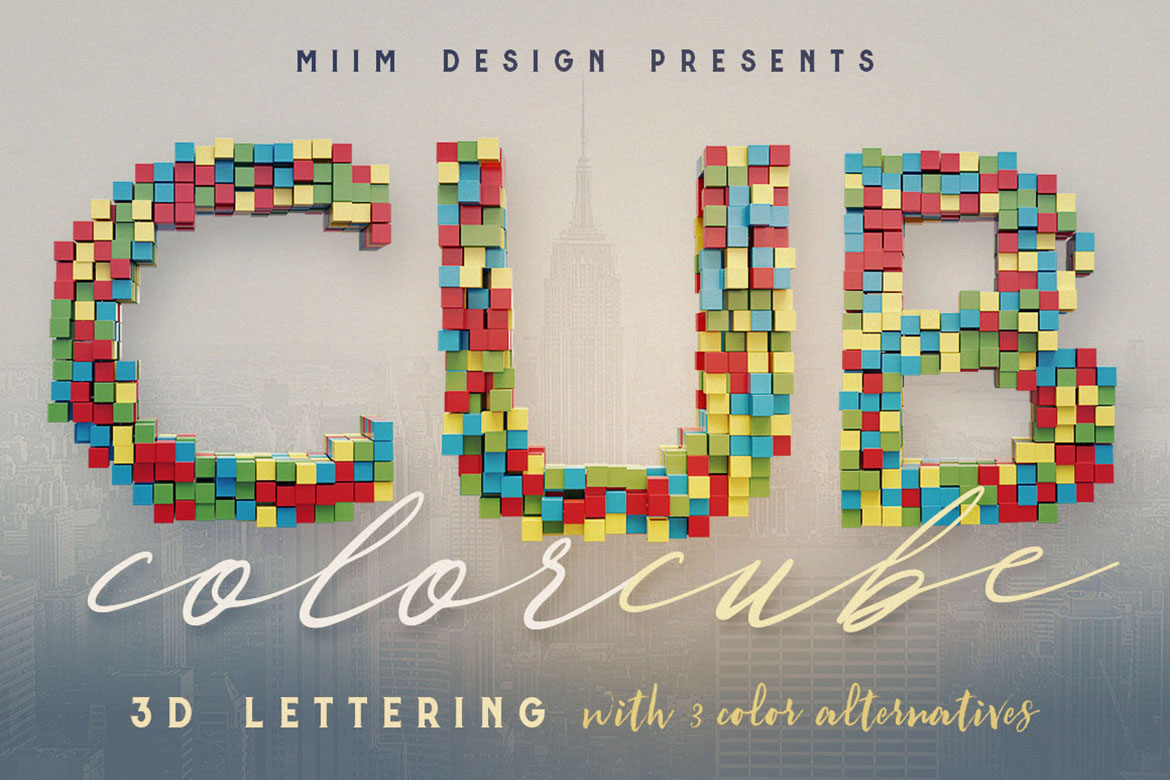 Download Free Color Cubes 3d Lettering Graphic By Jumbodesign Creative Fabrica for Cricut Explore, Silhouette and other cutting machines.