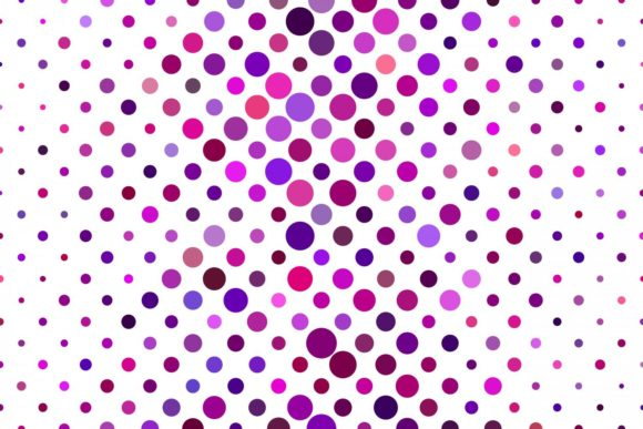 Download Free Colorful Dot Pattern In Purple Tones Graphic By Davidzydd for Cricut Explore, Silhouette and other cutting machines.