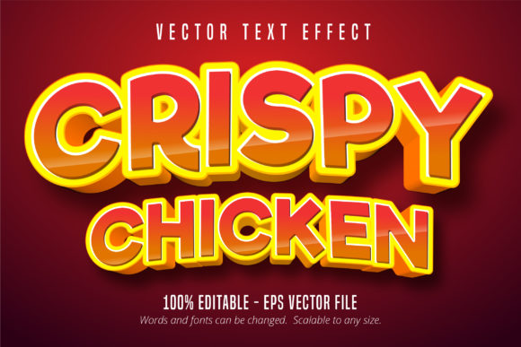 Download Free Crispy Chicken Editable Text Effect Graphic By Mustafa Beksen for Cricut Explore, Silhouette and other cutting machines.