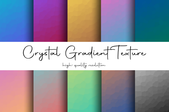 Print on Demand: Crystal Geometric Gradient Texture Graphic Textures By atlasart