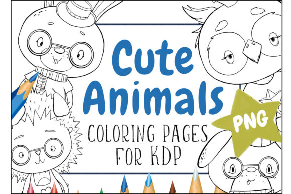 Cute Animals Coloring Pages  Graphic Coloring Pages & Books Kids By Snail's Tales