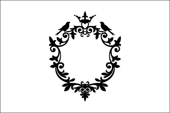 Download Free Decorative Frames Vector Graphic By Bn3300877 Creative Fabrica for Cricut Explore, Silhouette and other cutting machines.