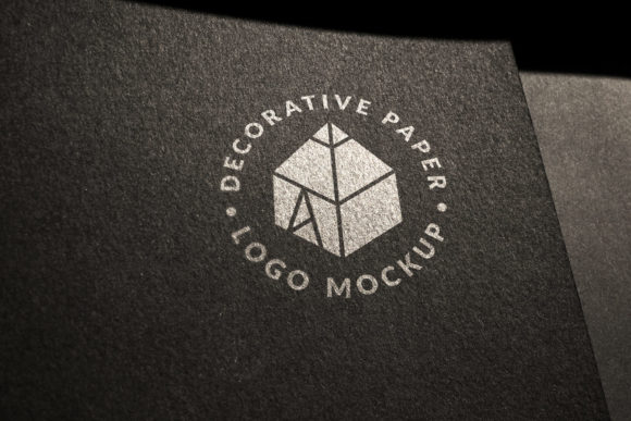 Download Free Decorative Paper Logo Mockup 2 Graphic By Graphicshelter SVG Cut Files