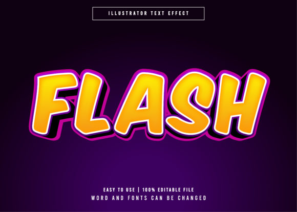 Download Free Flash Game Title Style Text Effect Graphic By Eddyinside for Cricut Explore, Silhouette and other cutting machines.