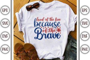 Print on Demand: Fourth of July Design, Land of the Free Graphic Product Mockups By GraphicsBooth