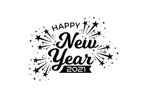 Download Free Happy New Year 2021 Banner Design Vector Graphic By Fatrin99art for Cricut Explore, Silhouette and other cutting machines.