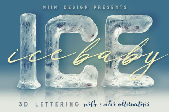 Download Free Ice Ice Baby 3d Lettering Graphic By Jumbodesign Creative for Cricut Explore, Silhouette and other cutting machines.