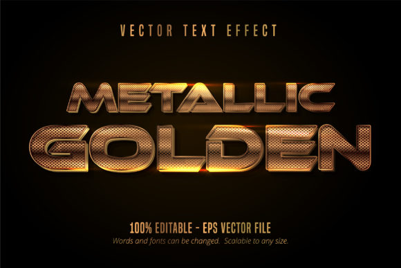 Download Free Metallic Shiny Golden Text Effect Graphic By Mustafa Beksen for Cricut Explore, Silhouette and other cutting machines.