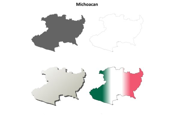 Download Free 1 Michoacan Map Designs Graphics for Cricut Explore, Silhouette and other cutting machines.