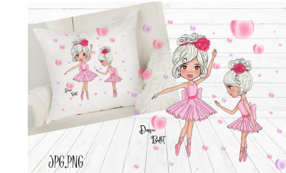 Print on Demand: Mother and Daughter Dance Ballet Graphic Illustrations By Suda Digital Art