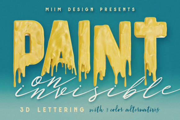 Print on Demand: Painting on Invisible - 3D Lettering Graphic Objects By JumboDesign