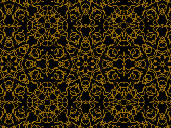 Download Free Pattern Gold Small Circular Flower Style Graphic By for Cricut Explore, Silhouette and other cutting machines.