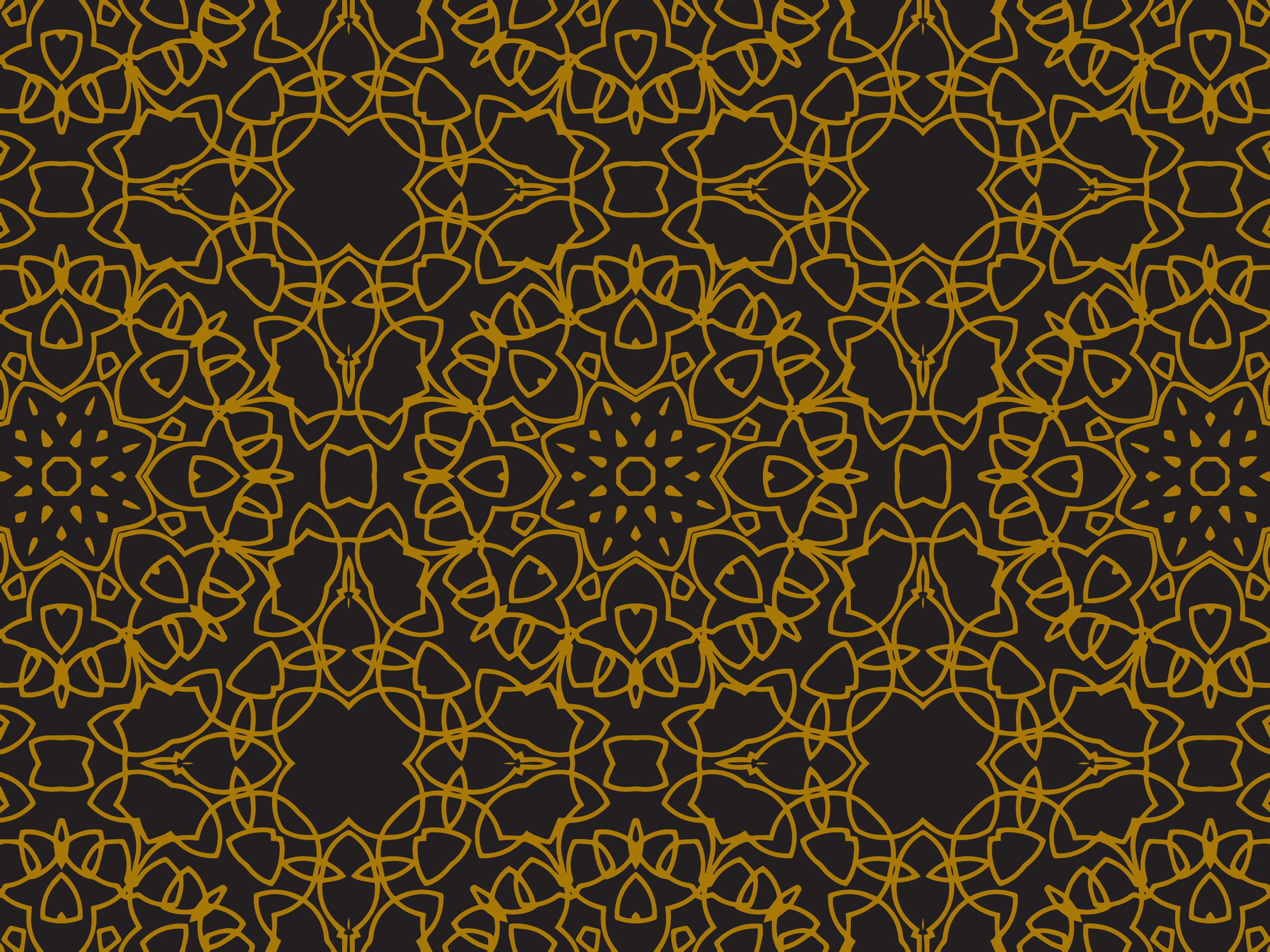 Download Free Pattern Gold Large Circular Flower Style Graphic By SVG Cut Files